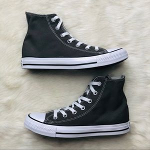 New Size 7 Converse All Star High Charcoal Gray
